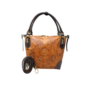 Eleganza Mar Brown Butterfly Handbag