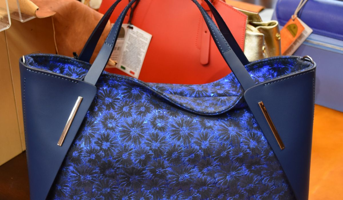Womans Blue Bag